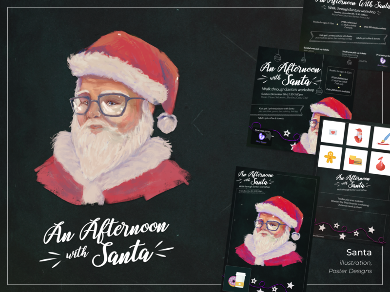 An Afternoon with Santa [Illustration + Design]