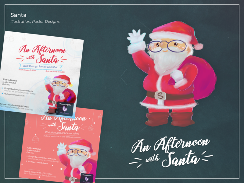 An Afternoon with Santa: Concept 2 [Design + Illustration]