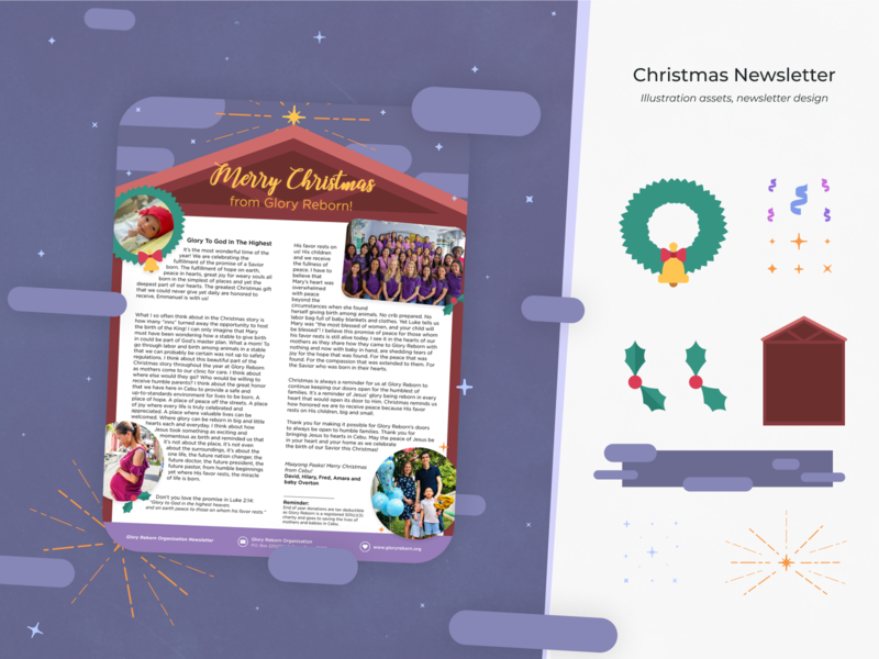 Christmas Newsletter [Design + Illustration]