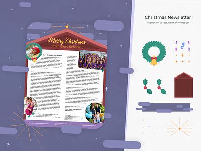 Christmas Newsletter [Design + Illustration] illustrator cc merry christmas digital newsletter digital news newspaper newsletter manger christmas illustrator illustration design