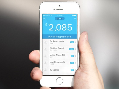 Payment Schedule App ui interface app ux iphone mobile dashboard ios list
