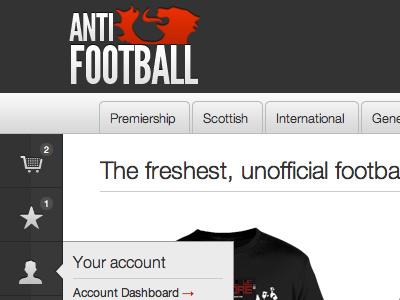 Anti-Football UI ui web branding magento store ecommerce