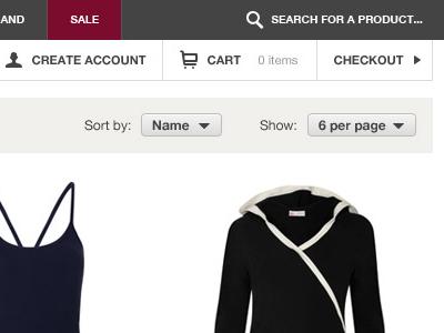 Online Store header ui web store magento shop ecommerce header