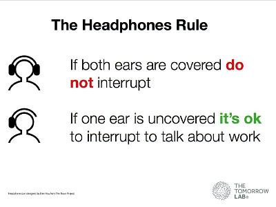 The Headphones Rule download poster productivity headphones office