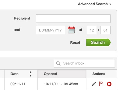 User Management System UI Part 2 ui web navigation interface search app message webapp inbox email