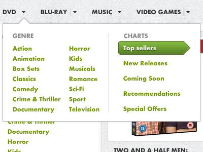 E-Commerce Theme Navigation ui web nav navigation menu dropdown ecommerce store shop