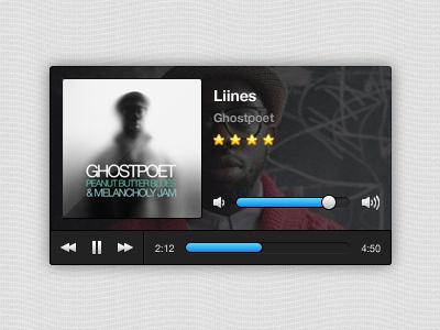 Free Mini Music Player (psd included) music player ui interface widget audio free psd
