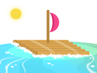 Set sail into the dribbble ocean