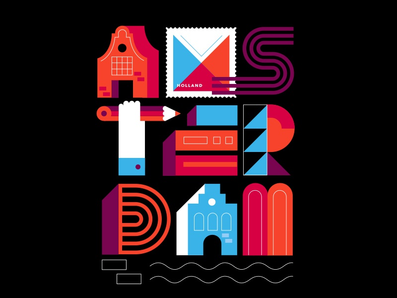 Postcards from Amsterdam / Typography letters typography amsterdam holland netherlands europe travel
