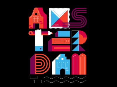 Postcards from Amsterdam / Typography