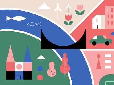 City Map Fragment II koivo plan urban geometry map city