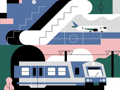 Vienna Airport schnellbahn sbahn train plane schwechat airport vienna