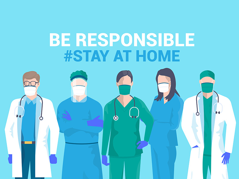 Stay at home awareness social media campaign by Darko Vujic on ...