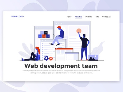 Landing Page Header for Web Development