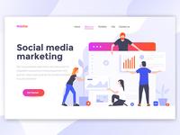 Social Media Marketing Landing page header