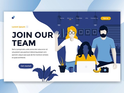 Landing page header for Join our team