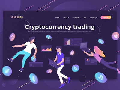Cryptocurrency trading landing page