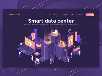 Smart data center landing page