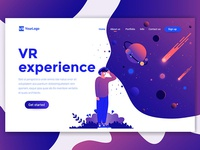 Vr Experience Landing page