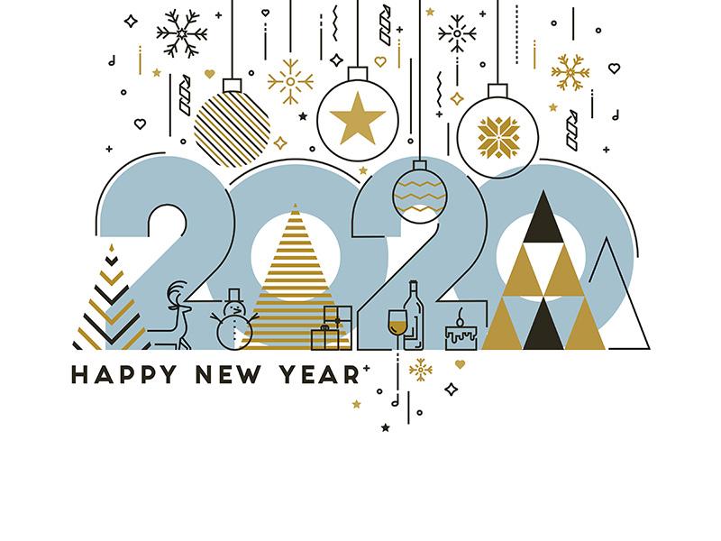 Happy New Year Flat Design 75