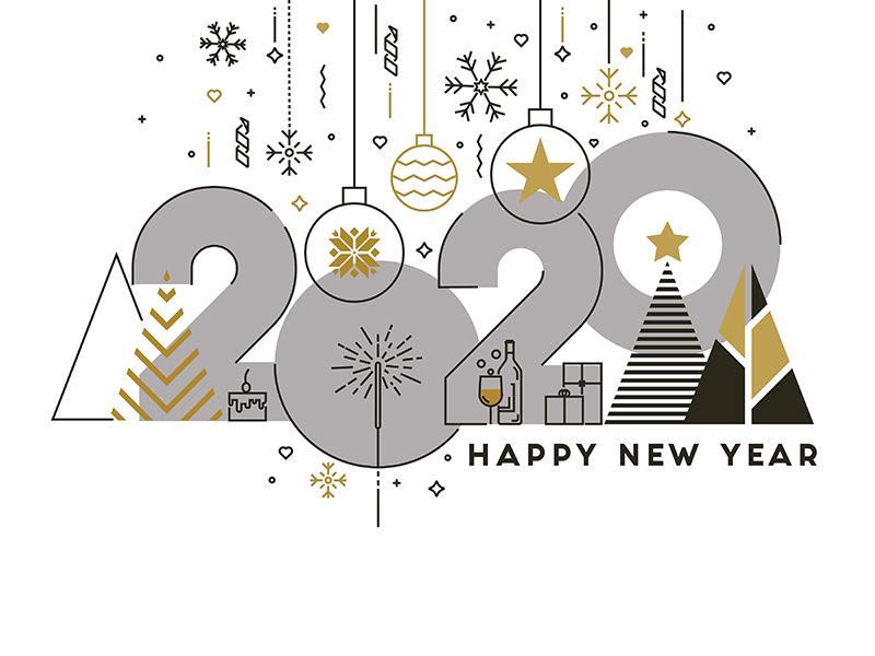 Happy New Year Flat Design 94