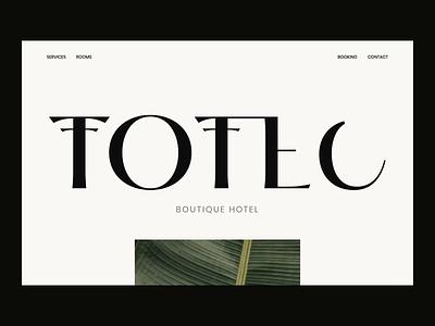 Totec Boutique Hotel Web Design vilius vaicius website web ux user ui page outer minimal logo landing interaction identity icon hotel design branding boutique art