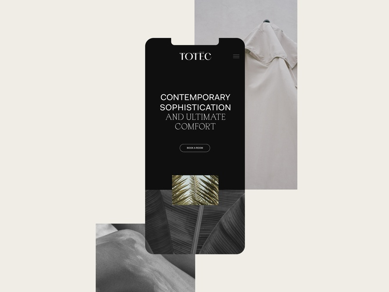 Totec Boutique Hotel Brand Identity and Web Design