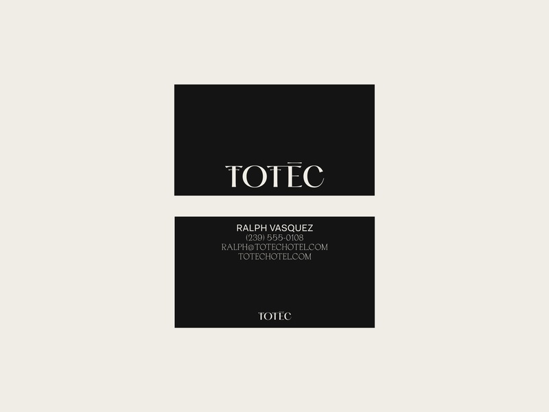 Totec Hotel Business Card