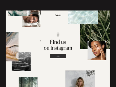 Eskafil Web Design - Parallax Interaction web design ui landing page coming soon inspiration outer instagram feed interaction website webdesign web design minimal typography interface parallax effect skincare