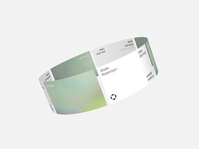 Inteller Business Card Design agency outer studio studio outer design identity brandinng brutalism minimal rotating loop type gradient business cads card business cards business card
