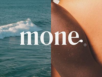 Mone Branding word mark vector typography type sustainable skincare serif photography nature natural minimal logo liquid identity icon font design branding body