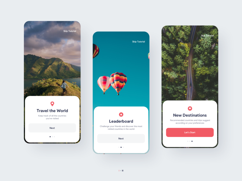 Balloon Travel App Design | UI/UX | iOS and Android photography traveling travel app travel interaction iphone ios mobile ux ui interface graphic design app