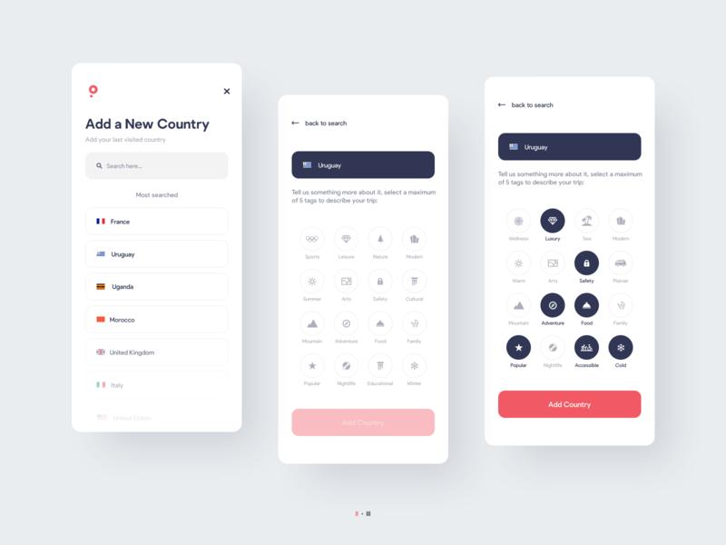 Balloon Travel App Design | UI/UX | iOS and Android diary travel app travel graphic design interaction ios mobile app ux interface graphic ui design