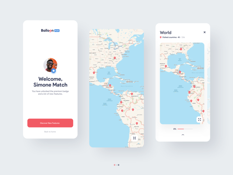 Balloon Travel App Design | iOS and Android