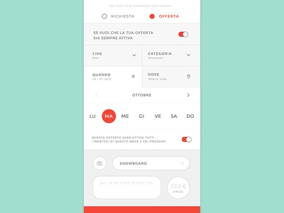 FlavApp. No. 02 android flat application mockup app mobile ios graphic design ux interface ui