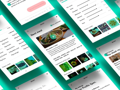 Mhint UI ux ui mobile graphic iphone interface intelligence design app ai chat food