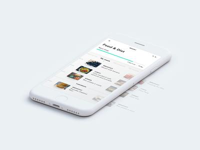 Food Diet ux ui intelligence mobile iphone interface swipe food ai agency design app