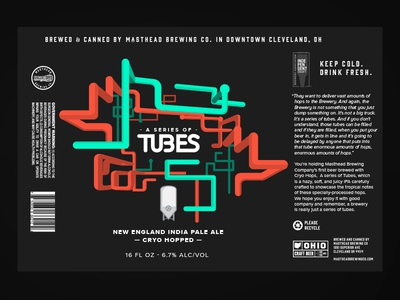 Series of Tubes Beer Label ohio brew local canned cans brewery tubes pipes label beer logo