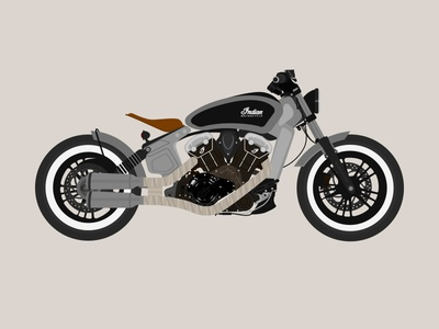 Bobber Motorcycle Illustration