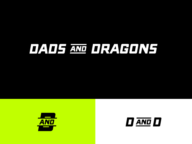Dads & Dragons Logo vlog marketing identity brand identity geek life gaming logo gaming entertainment dragons design blog design d and d dad life dads dad branding brand design brand blogger blog
