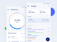 Budget Manager android material design finance manager stats money material finance budget