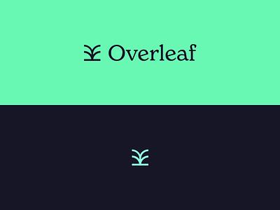 Overleaf typography vector branding minimal logo