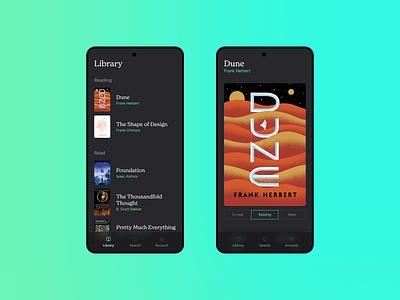Overleaf Mobile modern clean ux design product design books library flat web minimal ui