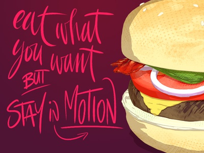 Hamburger shading textures render 3d tasty lettering calligraphy typography hamburger food