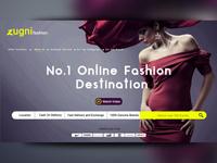 zugni fashion web landing page concept