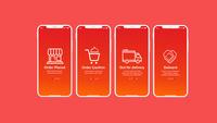 food app on boarding screen