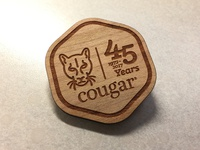 Cougar Wooden Pin