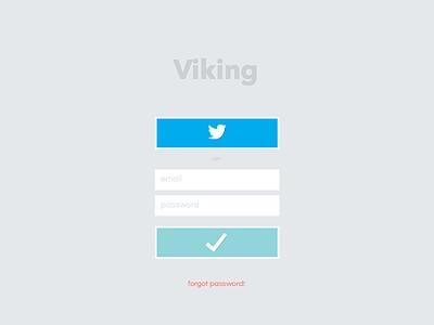 Viking Login viking sign in login log in cms flat ui