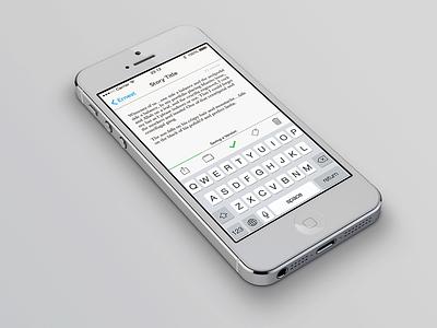 Ernest ios ios7 writing iphone