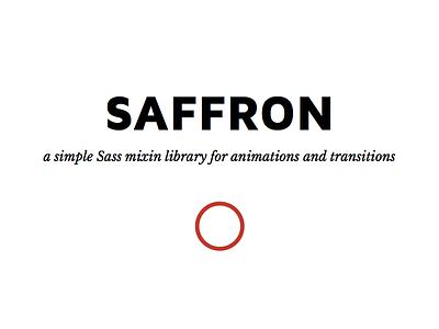 Saffron sass scss css animation
